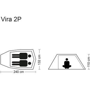 CAMPZ Vira 2P Zelt grün/olive grün/olive