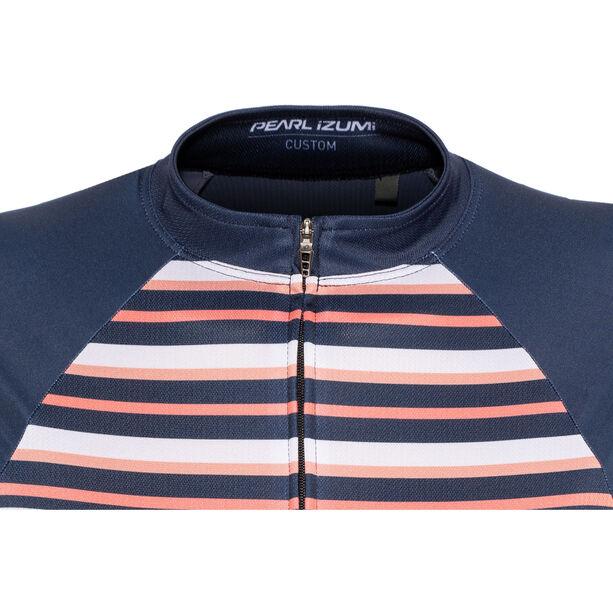 PEARL iZUMi Elite Pursuit LTD Jersey Damen stripes navy/sugar coral/peach