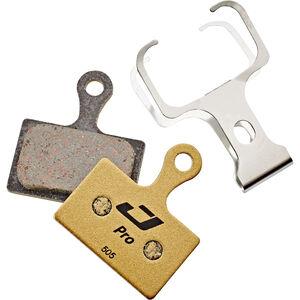 Jagwire Pro Semi-Metallic Bremsbeläge für Shimano Metrea|Rever Flatmount MCX2 MC 1 Paar gold