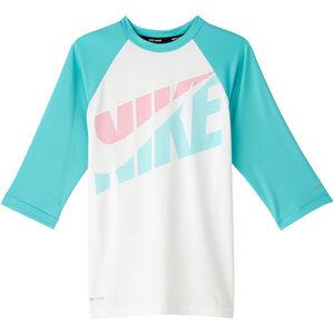 Nike Swim Iridecent Swoosh Kurzarm Hydroguard Shirt Mädchen white white