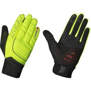 GripGrab Hurricane Hi-Vis Windproof Midseason Gloves fluo yellow fluo yellow