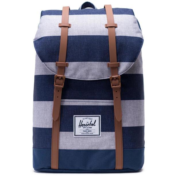 Herschel Retreat Backpack 19,5l border stripe/saddle brown