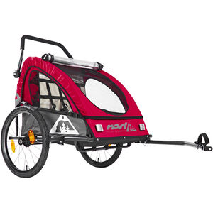 Red Cycling Products PRO Kids BikeTrailer Kinderanhänger rot/grau rot/grau