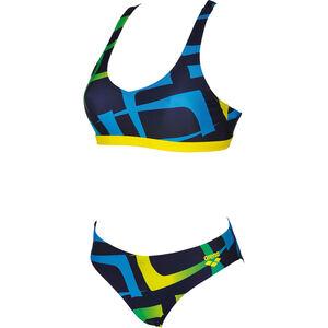 arena Scrawl Two-Pieces Swimsuit Women navy-yellow star bei fahrrad.de Online