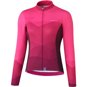 Shimano Kaede Thermo Langarm Jersey Damen pink pink