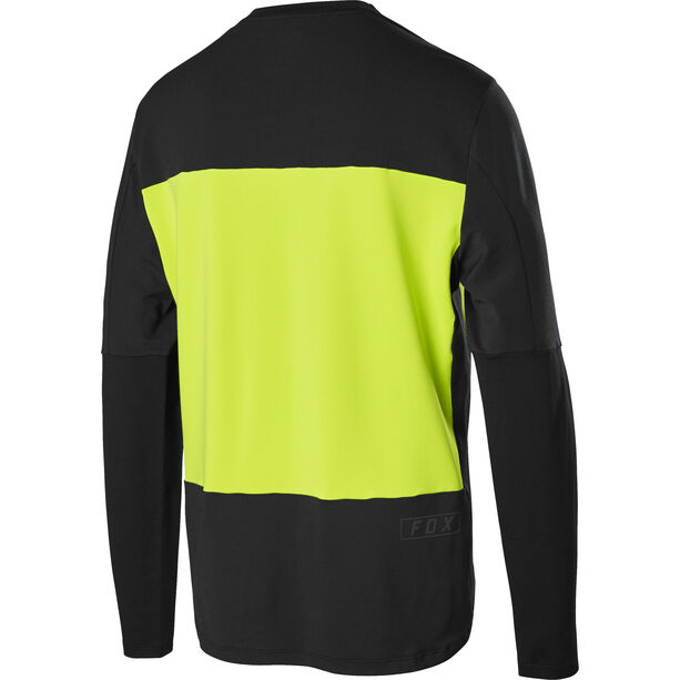 Fox Defend Delta Lunar Langarm Shirt Herren day-glo yellow