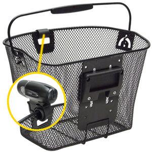 KlickFix Uni Korb mit Lampenhalter schwarz bei fahrrad.de Online