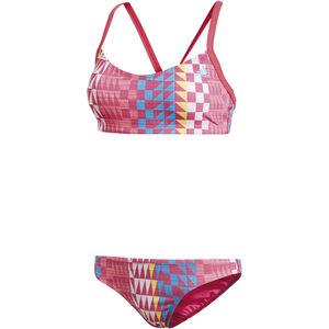 adidas Allover Print Bikini Women Real Pink/Bright Blue