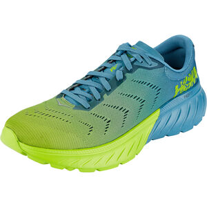 Hoka One One Mach 2 Running Shoes Herren storm blue/lime green storm blue/lime green