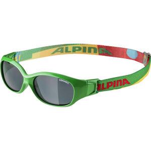 Alpina Sports Flexxy Glasses Kinder green-puzzle green-puzzle