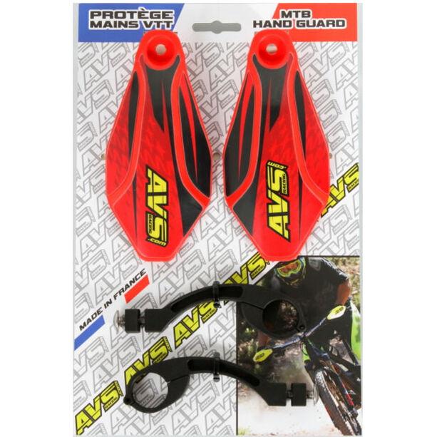 AVS Racing Handschutz Kit mit Design red/black
