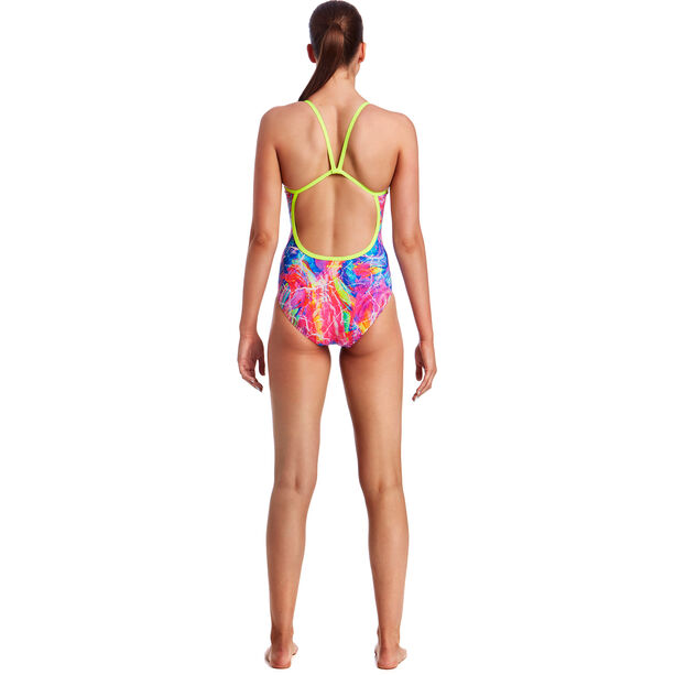 Funkita Single Strap One Piece Swimsuit Damen kaleidocolour