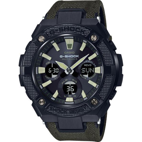 CASIO G-SHOCK GST-W130BC-1A3ER Uhr Herren green black/grey chrom