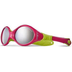 Julbo Looping I Spectron 4 Sunglasses Baby 0-18M Fuchsia/Lime Green-Gray Flash Silver