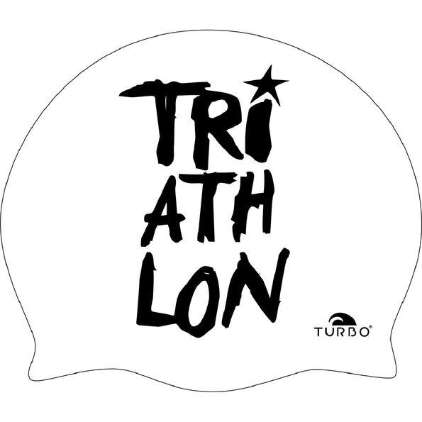 Turbo Triathlon Swimming Cap white/black