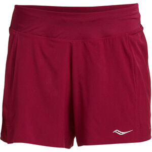 "saucony Tranquil 5"" Shorts Damen beet red beet red"
