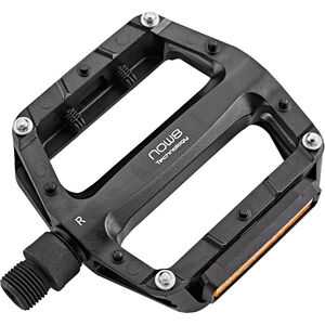 NOW8 E-Touring Flatpedals 4 Pins with Reflector black black