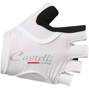 Castelli Rosso Corsa Pave Gloves Damen white/black white/black