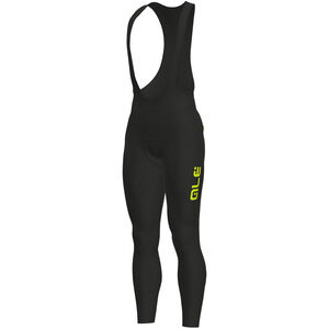 Alé Cycling Solid Winter Bib Tights Herren black-yellow fluo black-yellow fluo