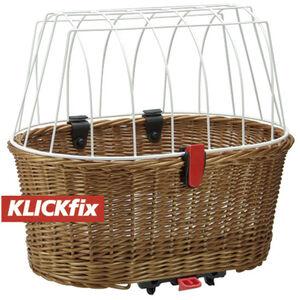 KlickFix Doggy Basket für Racktime braun