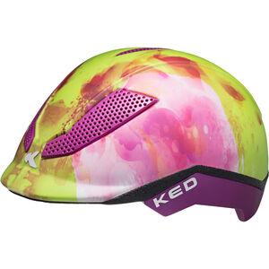 KED Pina Helmet Kinder green flower green flower