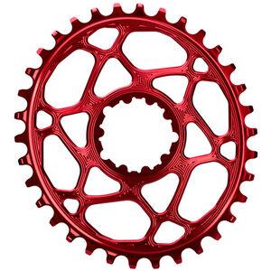 absoluteBLACK Ovales Kettenblatt für SRAM XX1 Spiderless red red