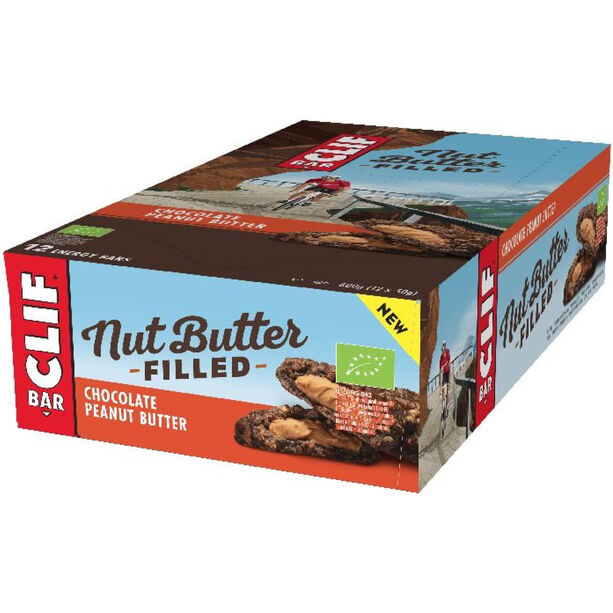 CLIF Bar Nut Butter Energy Riegel Box 12x50g Chocolate Peanut Butter