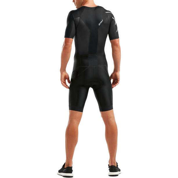 2XU Perform Full-Zip Sleeved Trisuit Herren black/black