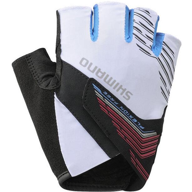 Shimano Advanced Short Gloves Herren white
