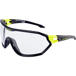 Alpina S-Way VL+ Glasses black matt-neon yellow black matt-neon yellow