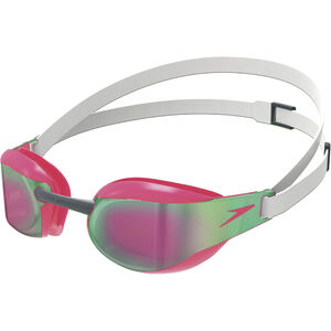 speedo Fastskin Elite Mirror Goggles white/red white/red