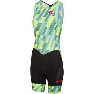 Castelli Short Distance Race Suit Damen pastel mint/yellow fluo/black pastel mint/yellow fluo/black