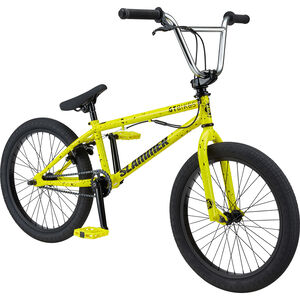 "GT Bicycles Slammer 20"" glossy yellow/black splatter glossy yellow/black splatter"