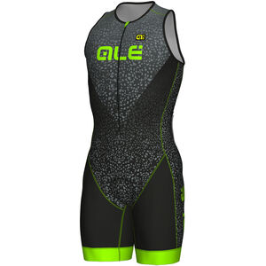 Alé Cycling Long Triathlon Kilawea Skinsuit Men black-grey-fluo green