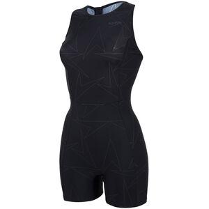 speedo Boomstar Allover Legsuit Damen black/oxid grey black/oxid grey