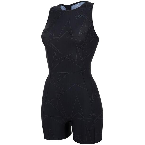 speedo Boomstar Allover Legsuit Damen black/oxid grey