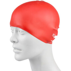 speedo Plain Moulded Silicone Cap Kinder red red