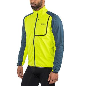 GORE WEAR C3 Gore Windstopper Jacket Men citrus green/deep water blue