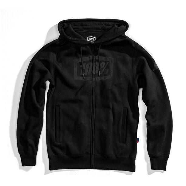 100% Syndicate Full-Zip Hoody Herren black/black foil