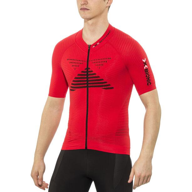 X-Bionic Effektor Power Fahrrad Trikot SS Full-Zip Herren flash red/black
