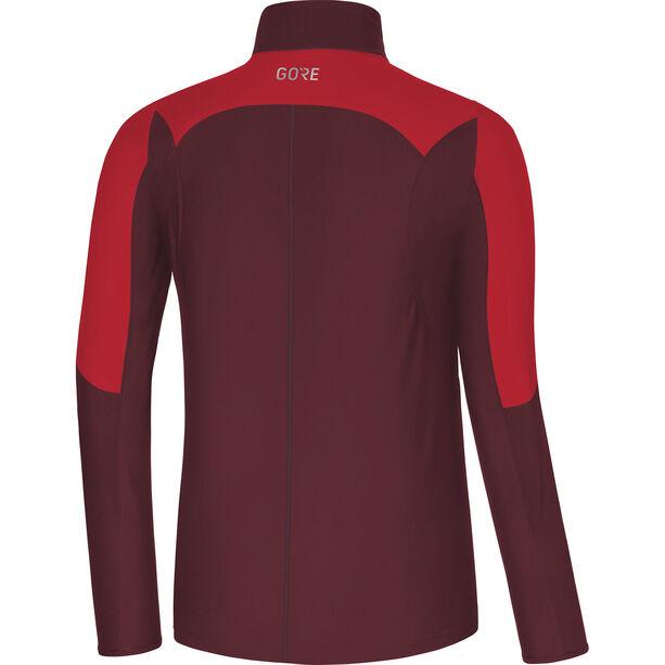 GORE WEAR R5 Windstopper Longsleeve Shirt Herren red/chestnut red