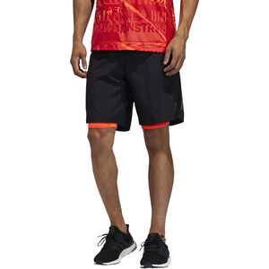 "adidas OWN The Run 2N1 Shorts 5"" Herren black/solar red black/solar red"