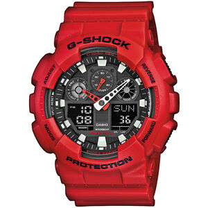 CASIO G-SHOCK GA-100B-4AER Watch Men red/red/black red/red/black