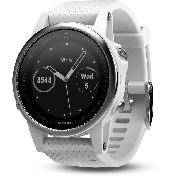 Garmin fenix 5S GPS Multisportuhr mit schwarzem Armband grau