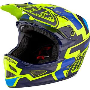 Troy Lee Designs D3 Fiberlite Speedcode Helmet yellow/blue yellow/blue