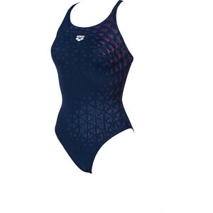 arena One Tunnel Vision Swim Pro One Piece Badeanzug Damen navy/freak rose navy/freak rose