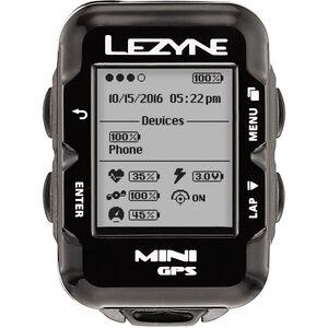 Lezyne Mini GPS Fahrradcomputer schwarz schwarz