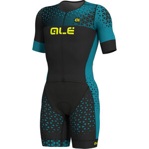 Alé Cycling Rush Tri SS Unitard Long Herren black-ottanio black-ottanio