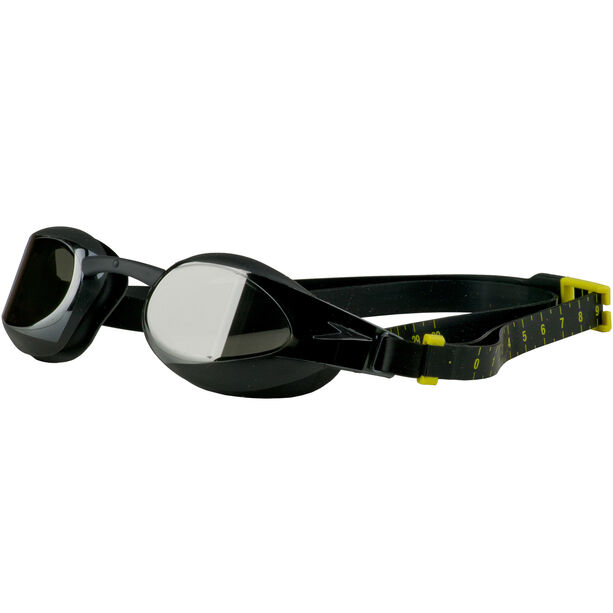 speedo Fastskin Elite Mirror Goggles black/dark chrome
