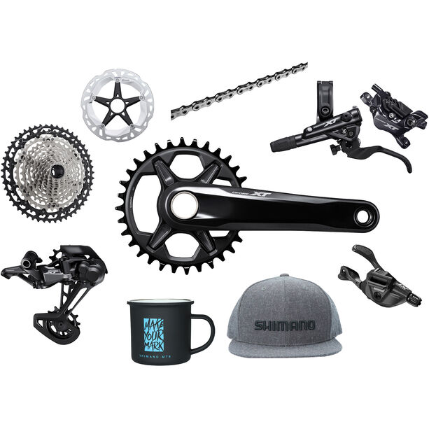 Shimano Deore XT M8100 Priority Pack ohne Nabe 1x12-fach black/silver